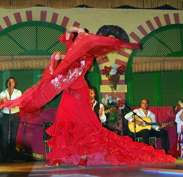 flamenco ballo e chitarra